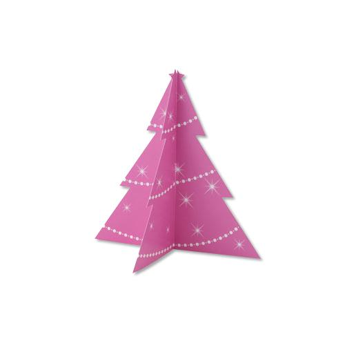 ペーパークラフト(クリスマスツリー)(2枚1組)