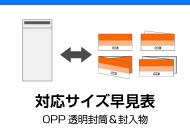 OPP透明封筒対応サイズ早見表