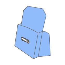 紙製パンフレットスタンド