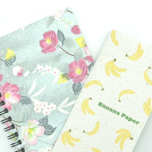 和紙ノート&バナナペーパーノート
