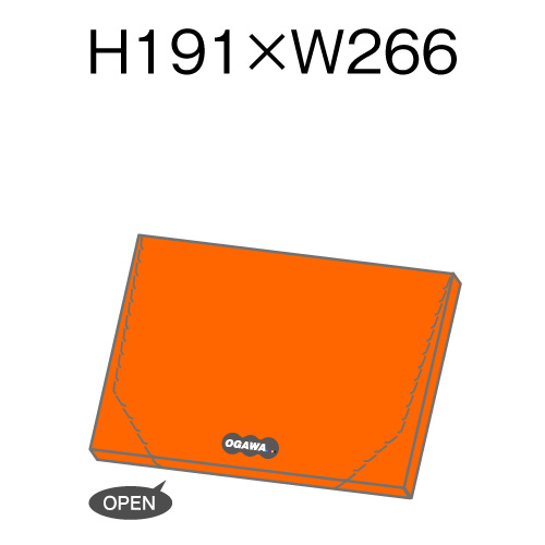 オリジナル箱型封筒 平形V字ジッパー付