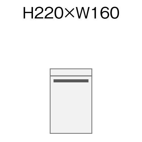 オリジナル透明封筒 H220xW160