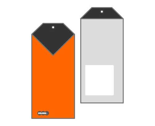 オリジナル封筒 タグ型 セロ窓付