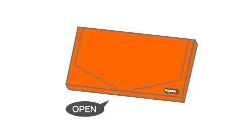 オリジナル箱型封筒 お菓子パッケージ型