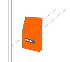 ガラス貼り付け用ポケットPOP